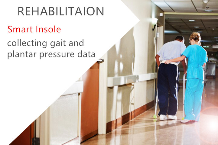 REHABILITATION SMART INSOLE collecting gait and plantar pressure data